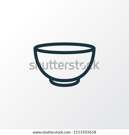 Bowl icon line symbol. Premium quality isolated soup element in trendy style.