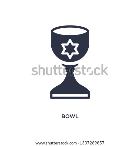 bowl icon. Simple element illustration from history concept. bowl editable symbol design on white background. Can be use for web and mobile.