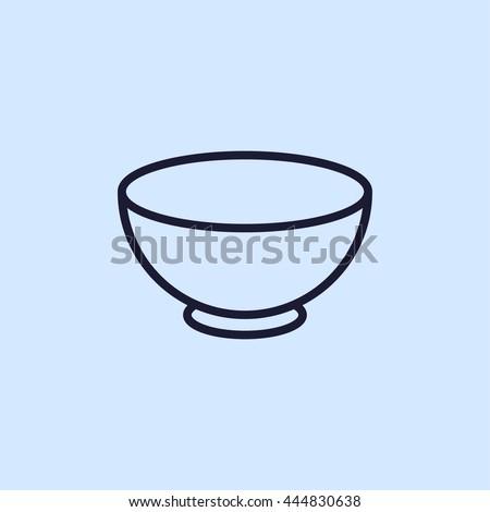 bowl line icon