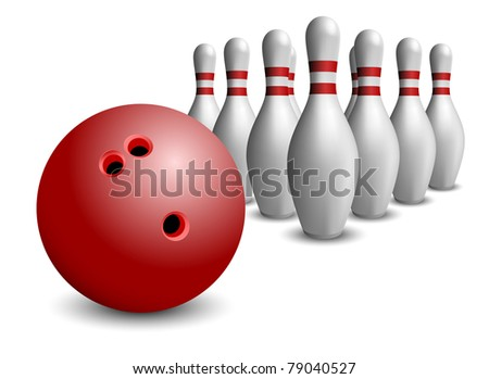 Bowling ball and pin set eps8