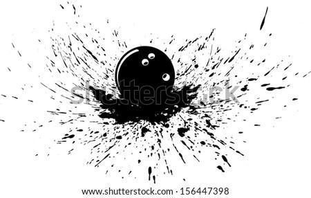 Bowling Ball in Splatter