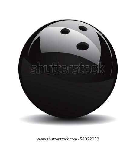 Bowling Ball Set 1 Vector Drawing