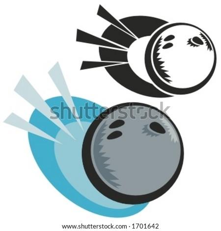 Bowling ball. Vector illustration