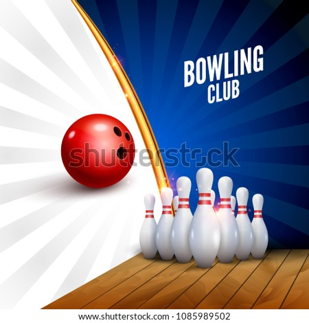 stock-vector-bowling-club-poster-with-ball-and-bowling-pins-vector-leisure-sport-background-template