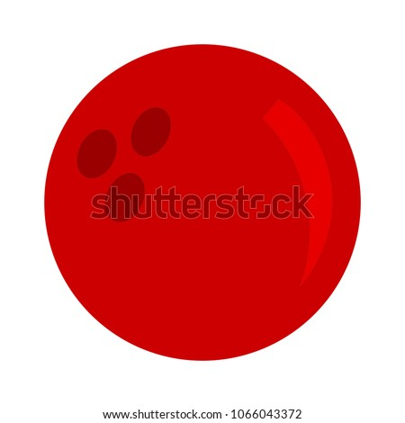 Bowling icon, bowling ball illustration - play Bowling icon