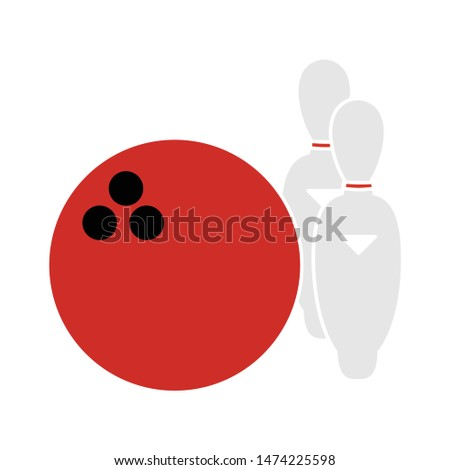 Bowling icon. flat illustration of Bowling vector icon. Bowling sign symbol