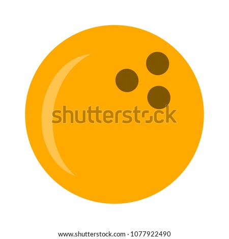 Bowling icon. vector bowling ball - sports game icon
