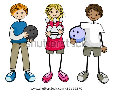 Bowling Kids - Vector