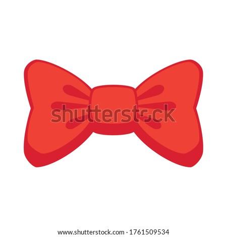 bowtie, knot silk, bowtie for elegant suit on white background vector illustration design Stock fotó ©