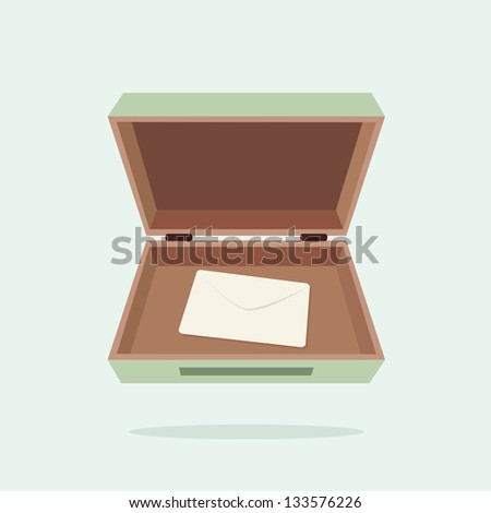 box and letter