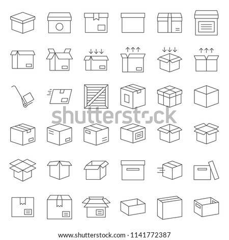 Box and parcel icon for business, pixel perfect for use as application or website