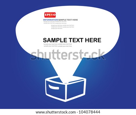 Box and speech bubble,Vector