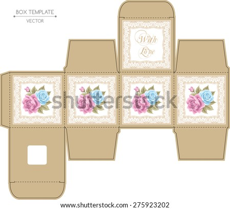 box design with roses and