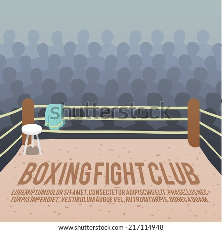 box fight club background with