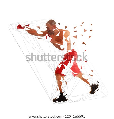 box fighter punch  isolated low