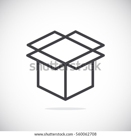 Box icon flat.