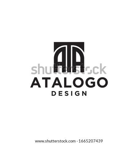 Box  Initials Monogram AAT AA ATA Logo Design  Stok fotoğraf ©