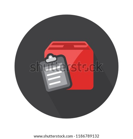 box listed icon. clipboard with checklist - checklist with box