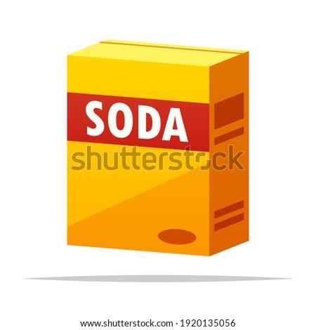 Box of baking soda vector isolated illustration Photo stock ©