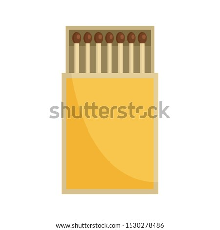 Box of matches icon. Flat illustration of box of matches vector icon for web design