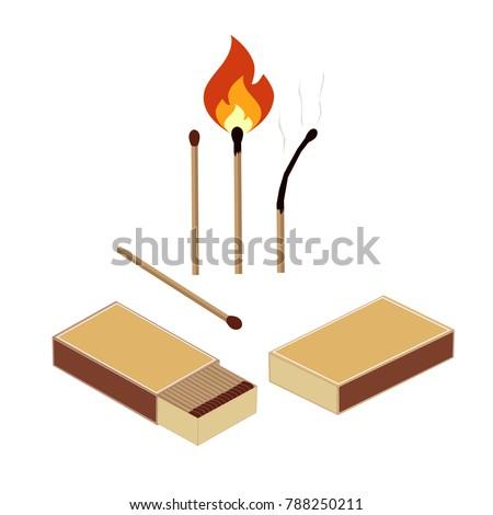 box of matches  set a burning