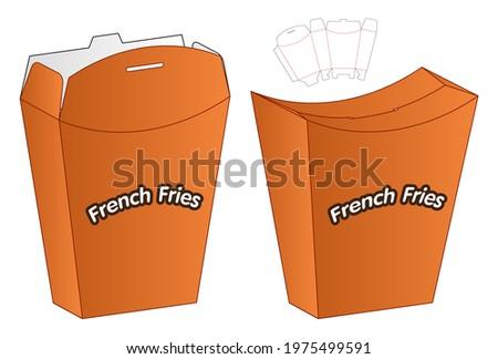 Box packaging die cut template design. 3d mock-up Photo stock ©