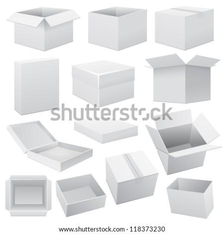Box set. Vector Web #118373230