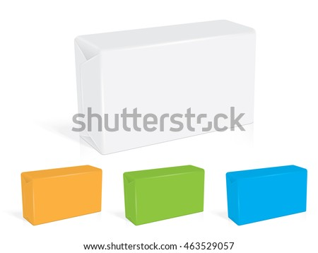 box soap for your design EPS10 Vector Mock up easily change the color of the soap