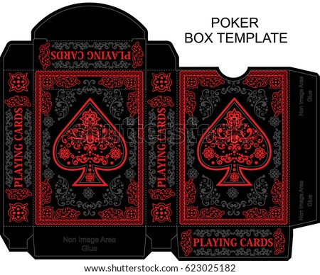 box template poker playing card