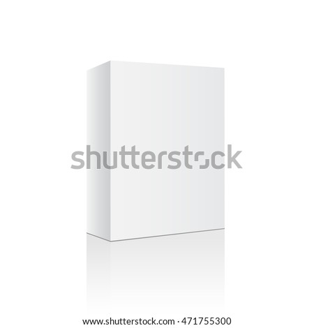 Box white empty blank isolated. Package template. Box empty blank. Product Box. Box mock up ready for your design. Tall software blank
