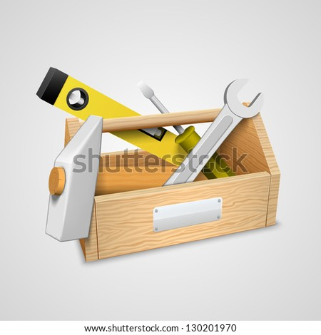 box with tools.