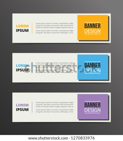 boxed or box style banner