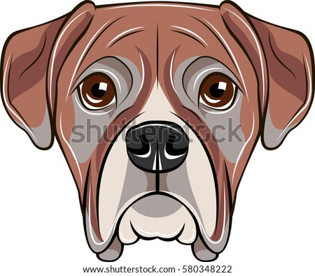 Boxer Dog Face Cartoon Outline Wiring Diagrams