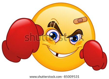Punch Emoticons http://www.shutterstock.com/pic-85009531/stock-vector-boxer-emoticon.html