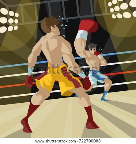 boxer performing an uppercut punch on opponent Zdjęcia stock ©