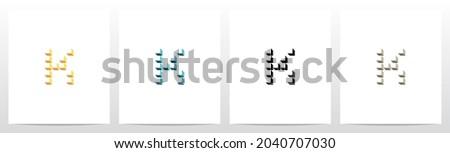 Boxes Cubes Forming Letter Logo Design K Stock fotó ©