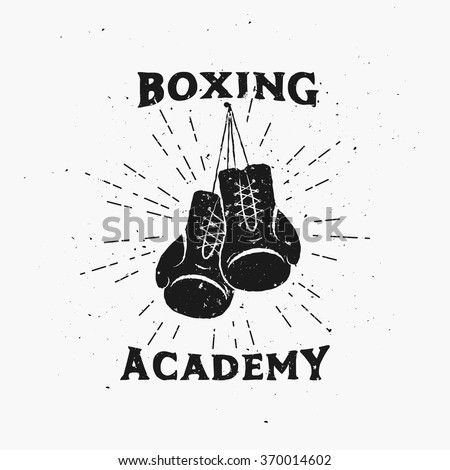 royalty free stock photos and images boxing academy emblem vintage