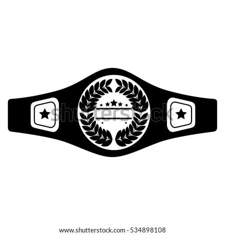 boxing belt isolated icon