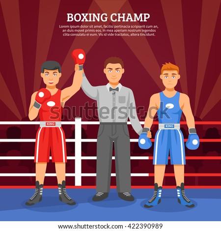 boxing champ flat design