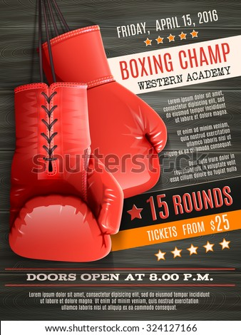 boxing champ poster with