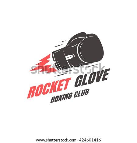 boxing club emblem template....