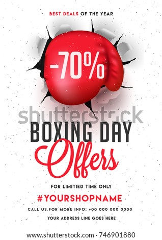 boxing day  sale banner  poster