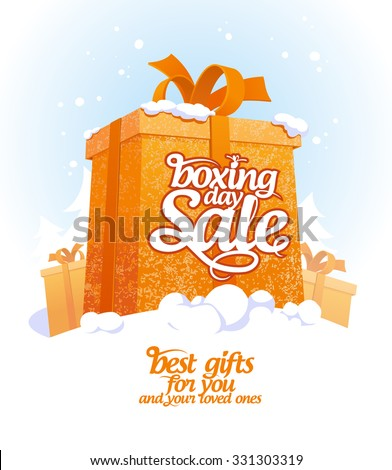 boxing day sale design with