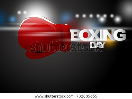 boxing day shopping concept