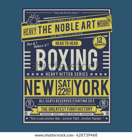 boxing fight poster typography