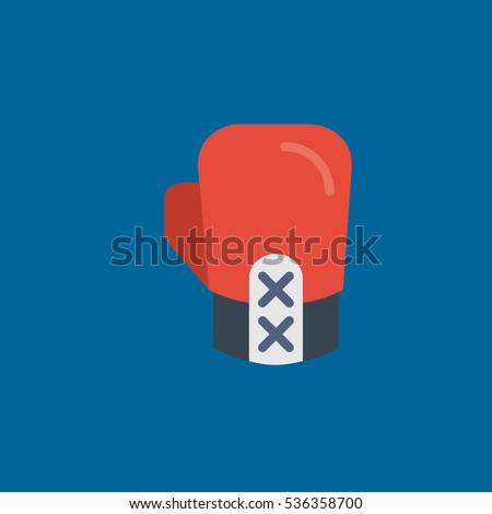 boxing glove icon flat disign