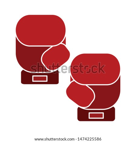 boxing glove icon. flat illustration of boxing glove vector icon. boxing glove sign symbol