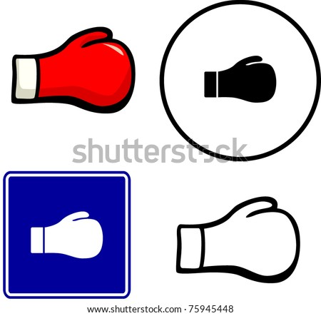 boxing glove illustration sign and symbol