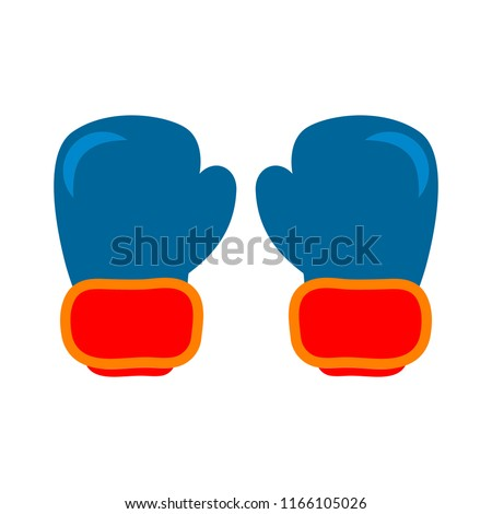 Boxing gloves fight icon, red vs blue. fight Battle emblem vector illustration