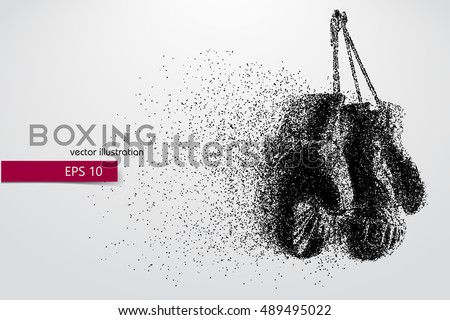boxing gloves from particles